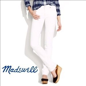 Madewell Rail Straight Jeans in White 25